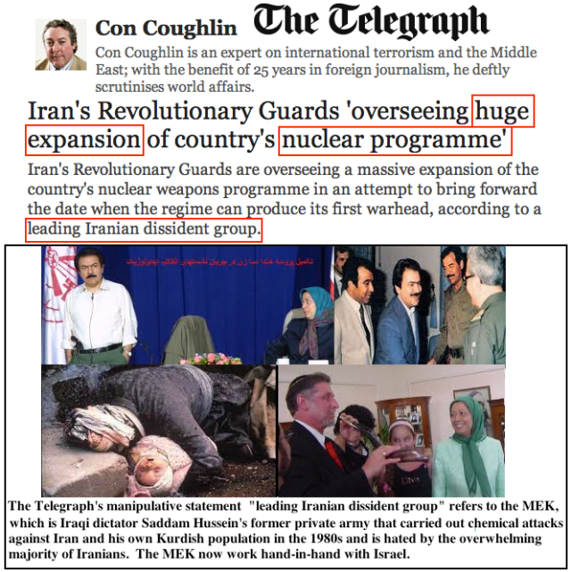Con Coughlin, The Telegraph, Iran News