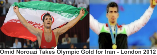 Omid Norouzi Olympic Gold Medalist for Iran - London 2012