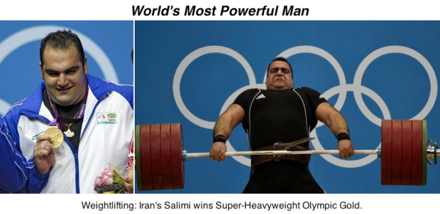 Behdad Salimi Olympic Gold Medal - Weightlifting