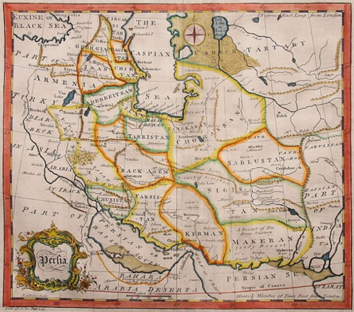 Azerbaijan - Ancient Province of Iran (Historical Map Collection, Library of Congress)