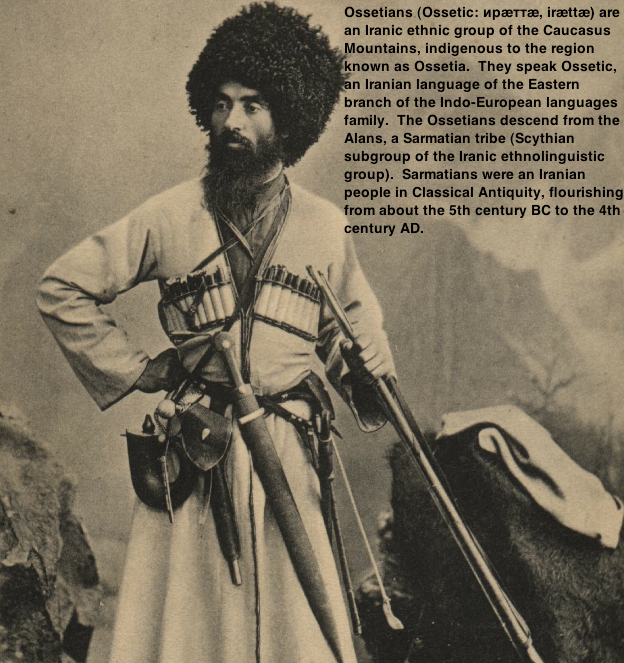 Ossetians (Ossetic: ирæттæ, irættæ) are  an Iranic ethnic group of the Caucasus   Mountains
