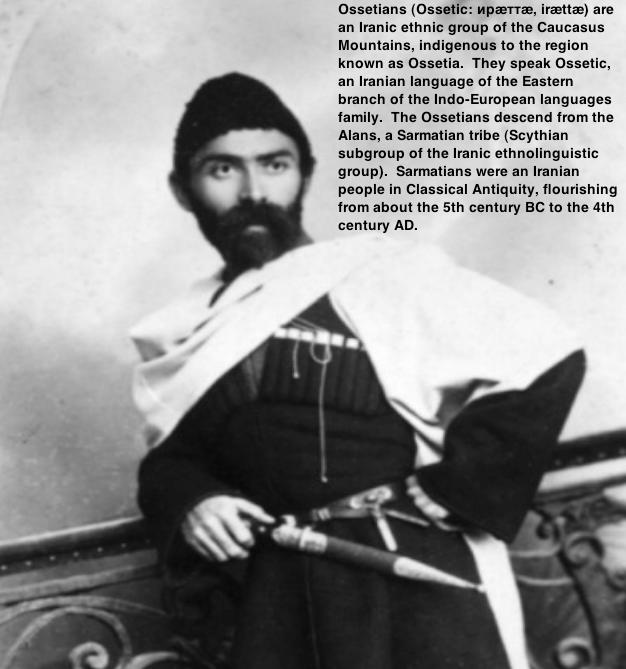Ossetians (Ossetic: ирæттæ, irættæ) are an Iranic ethnic group of the Caucasus Mountains